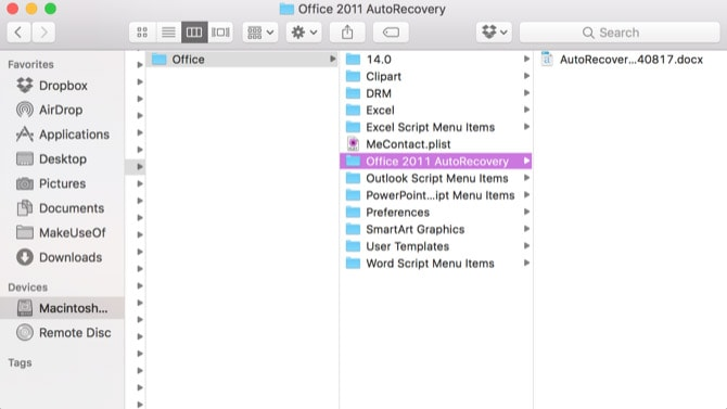 how do i recover an excel file that was not saved on a mac