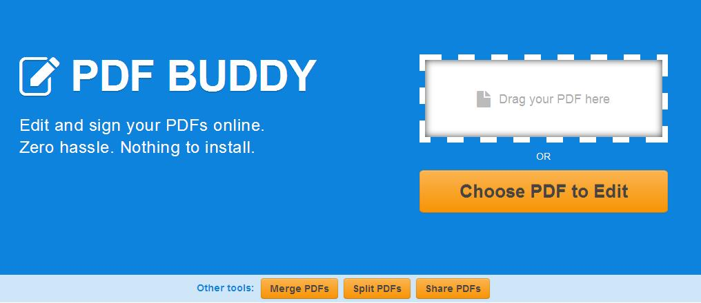 Best Free Mac PDF Editor- PDF Buddy