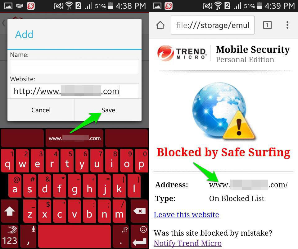 Block Websites by Trend Micro for Android Three