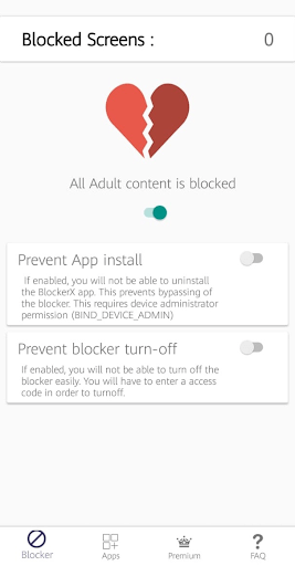 all adult content is blocked on Android