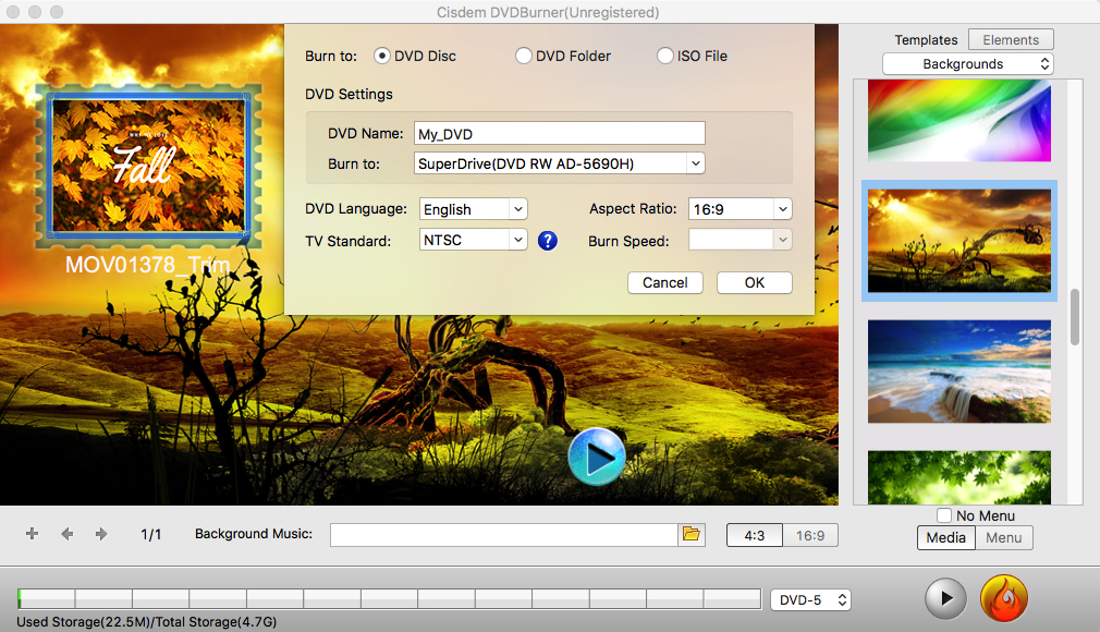 How to Make a DVD on Mac with DVD Burner Step 5