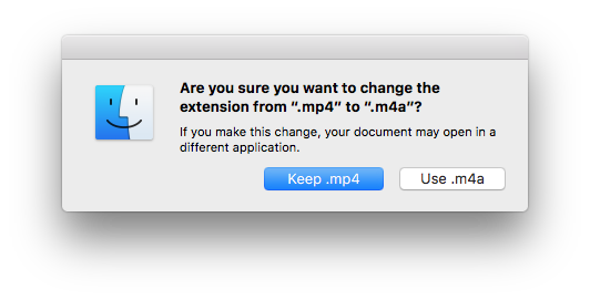 change extension of mp4