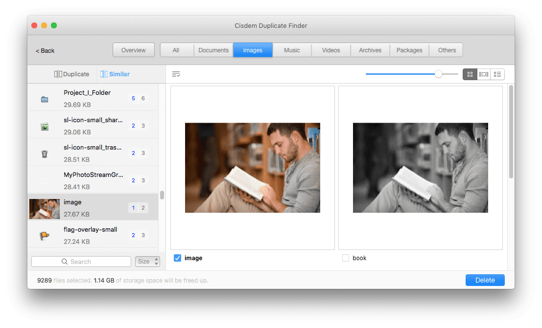 use the best duplicate photo finder to look for similar photos