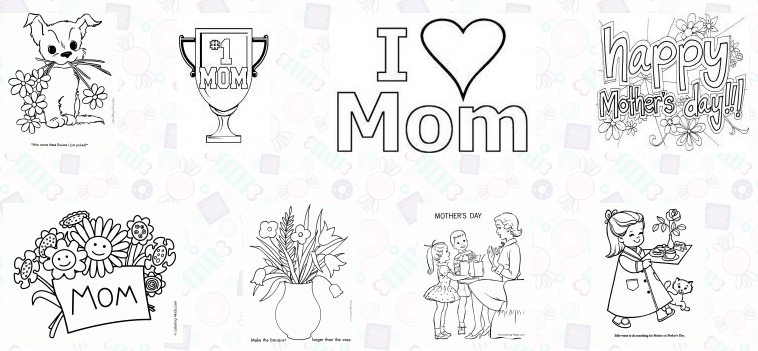 Best 30 Free Printable Mother\'s Day Coloring Pages 2018