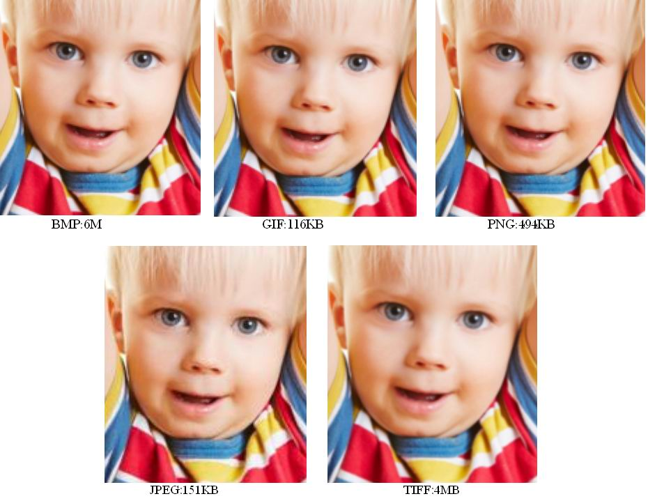 comparison between different image formats