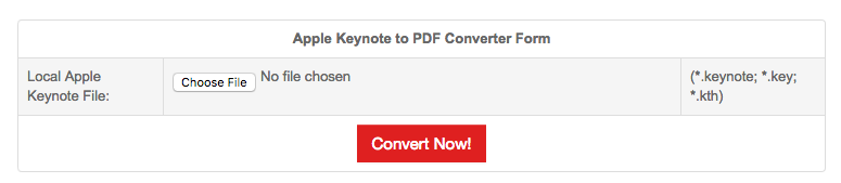 convert Keynote to PDF online