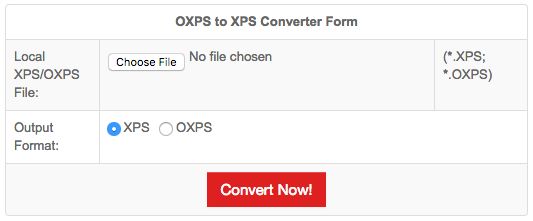 convert oxps to xps online
