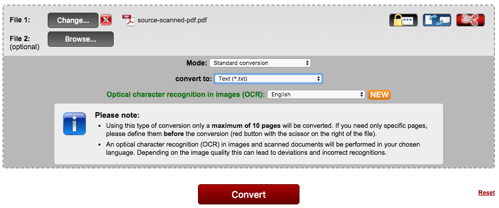 convert pdf image to text online free