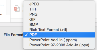 convert ppt to pdf on mac with 2016 03