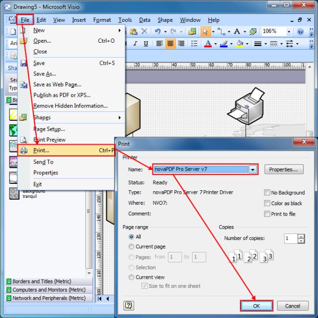 convert visio to pdf on windows - Convert Visio File To Pdf Online
