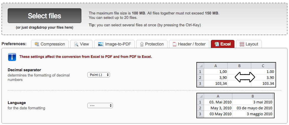 convert pdf to excel online2pdf