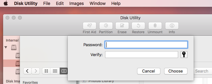 Password Protect Folders on Mac with Disk Utility Step Three