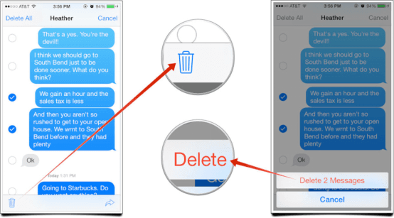 delete individual texts iphone how to delete messages on iphone 7 plus iphone 8 x included 6586