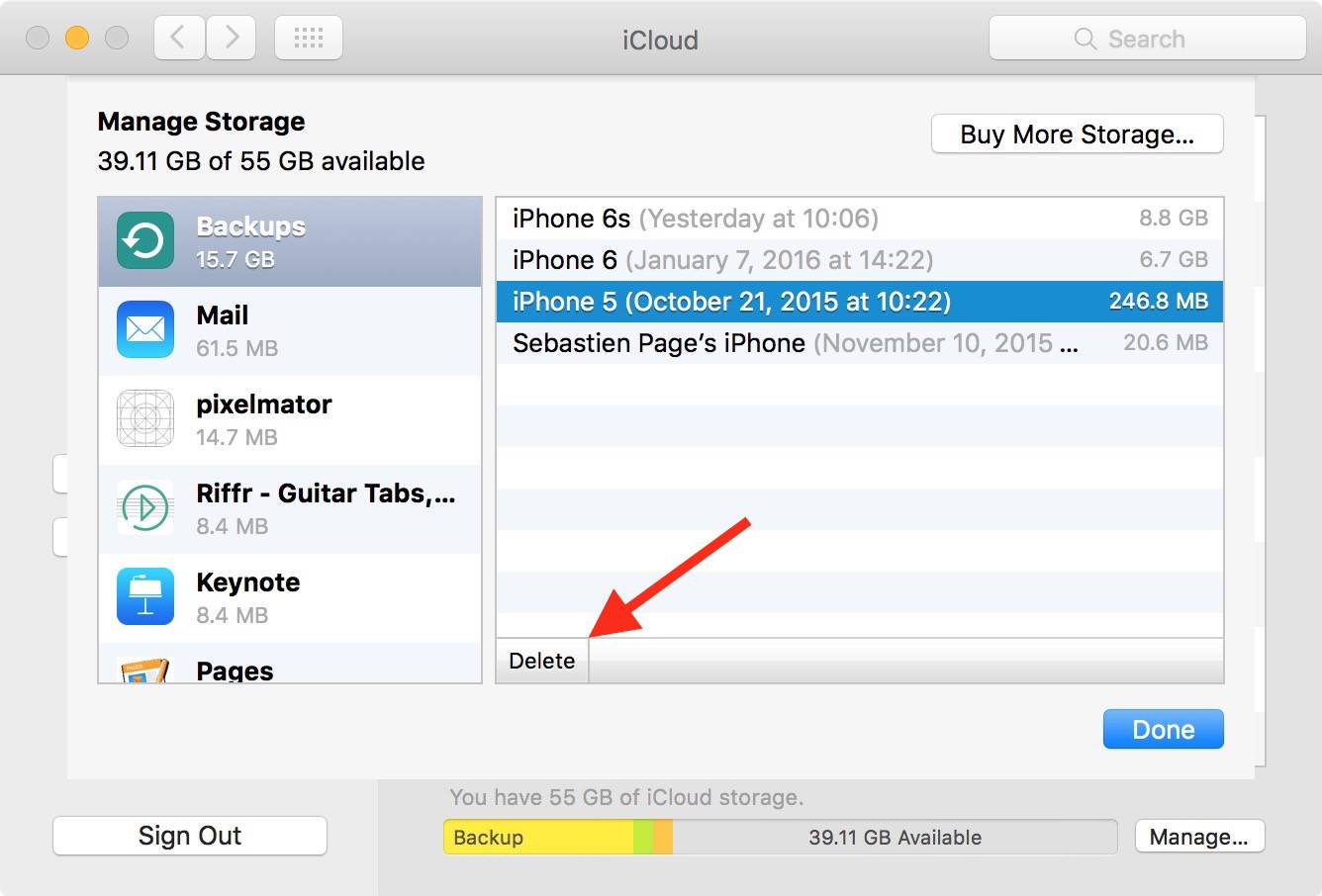 How to delete photos off icloud backup