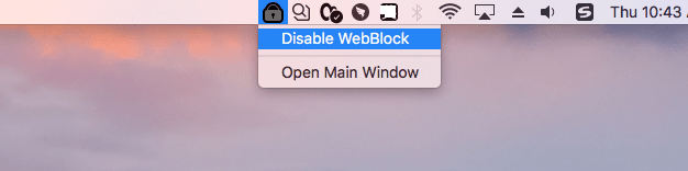 enable or disable WebBlock