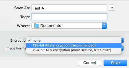 encryption options
