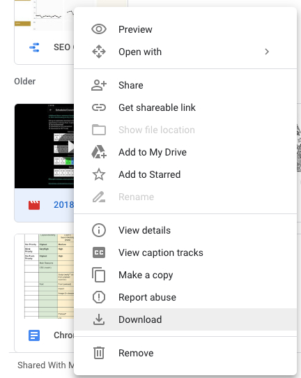 download to google drive