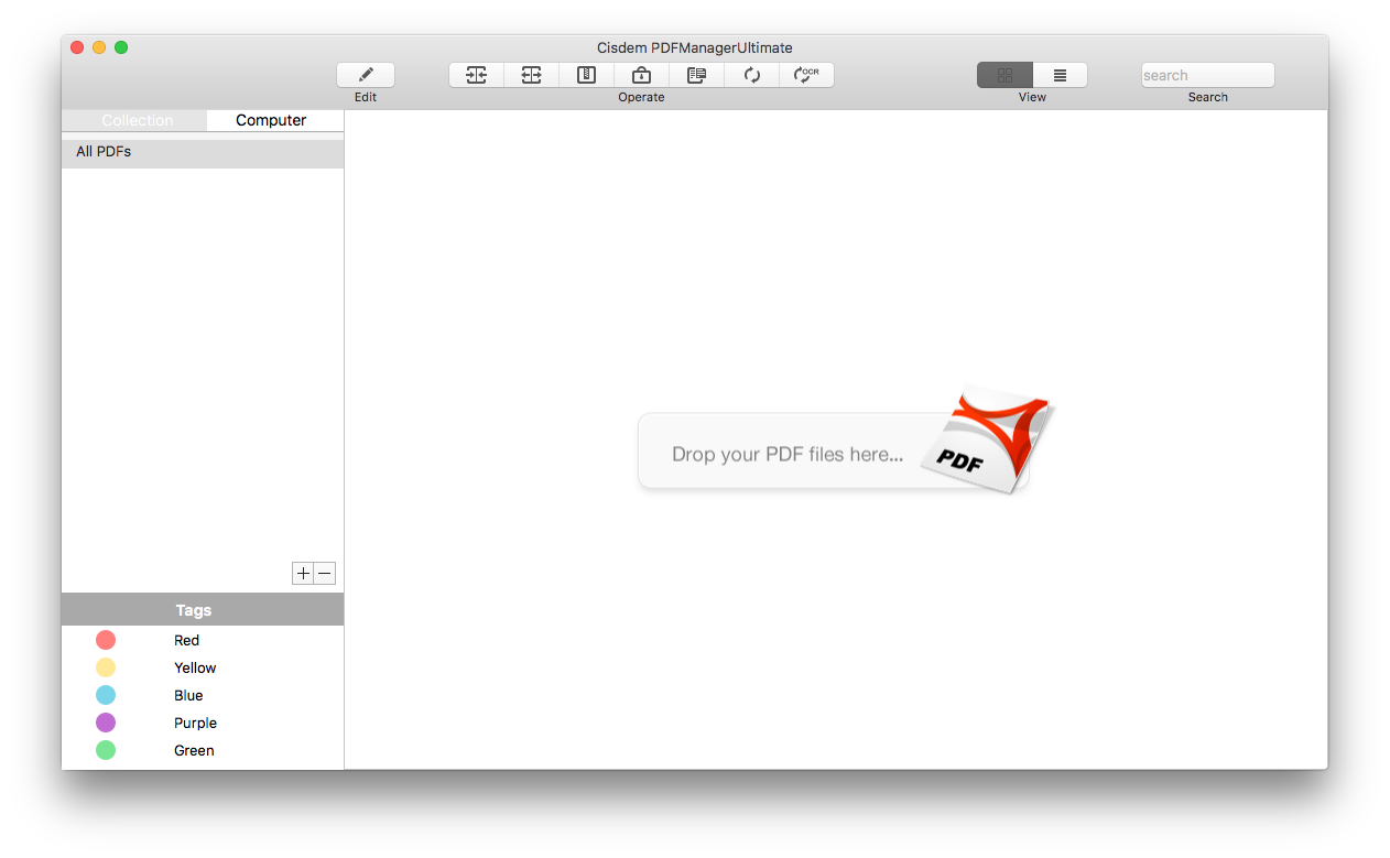 drag and drop pdf files for separating on mac