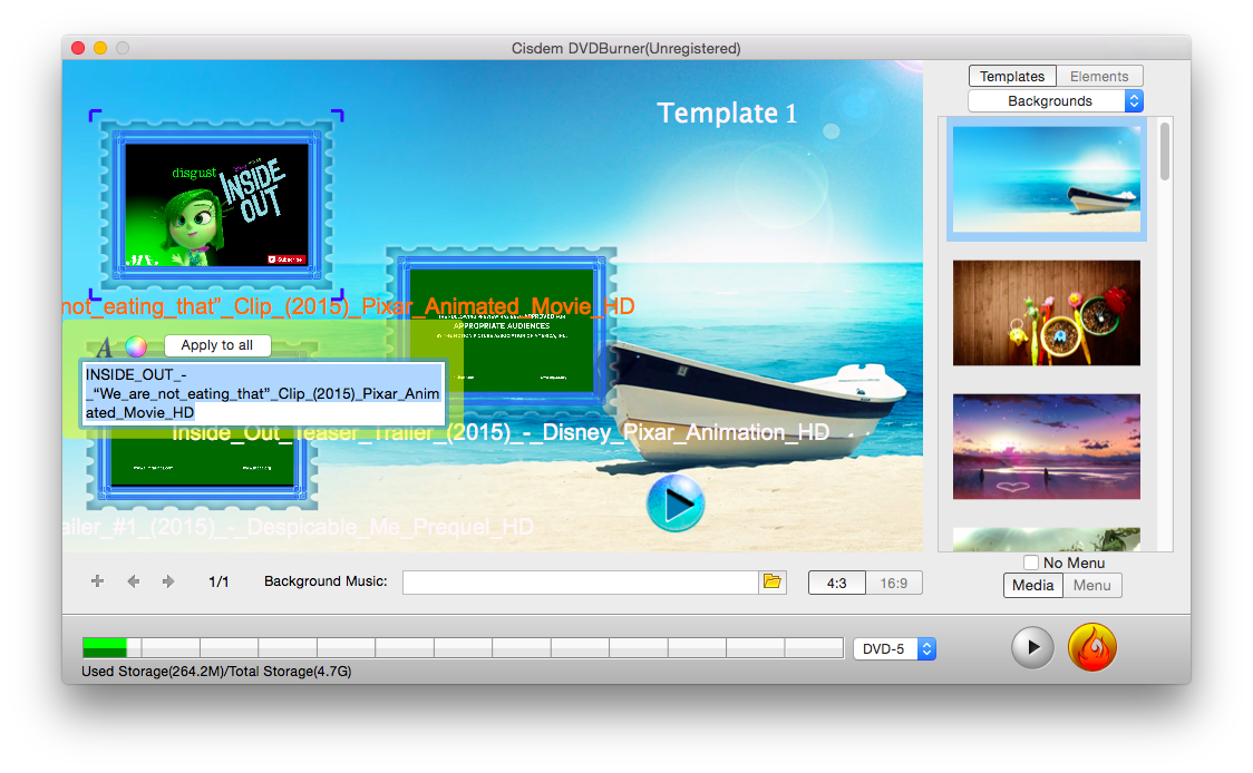 How to edit home dvd videos before burning them to dvd on mac for Dvd flick menu templates download