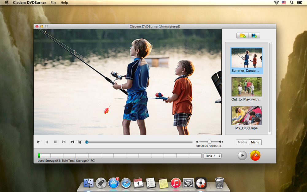 Convert FLV to DVD with Menu Templates on Mac Step One