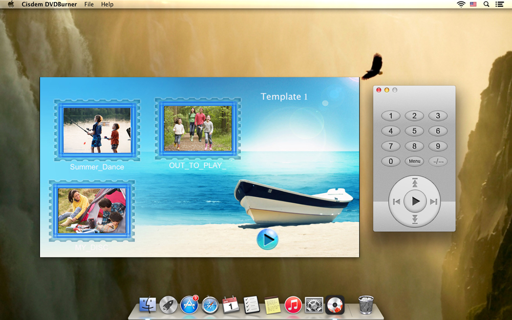 Convert FLV to DVD with Menu Templates on Mac Step Four