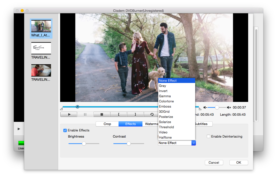If You Don't Like The Original Video Look, You Are Able To Edit And  Finetune It With Doubleclick The Thumbnail, You Can Crop, Create Special  Effect,
