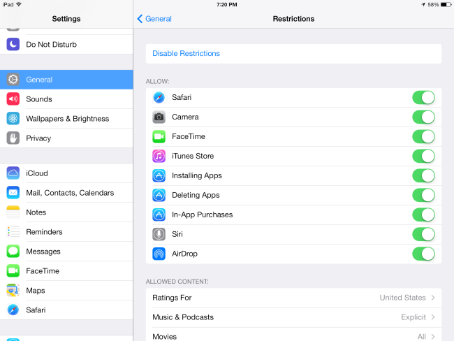 Lock down apps and settings on iPhone, iPad via Restrictions 03