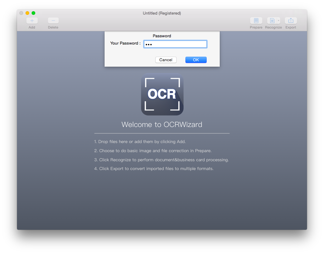 convert encrypted pdf with ocrwizard
