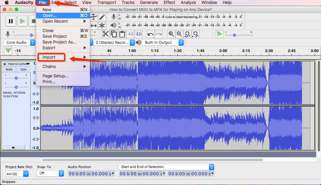 How to Extract Audio from Video via Audacity-2