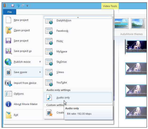 How to Extract Audio from Video in Windows Movie Maker-3