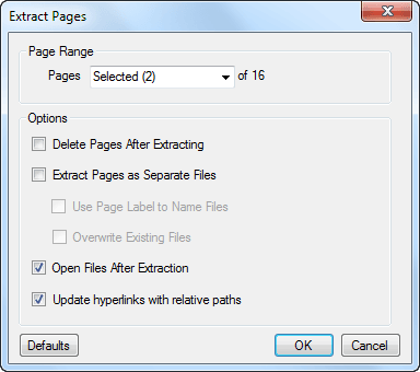 extract pdf pages bluebeam