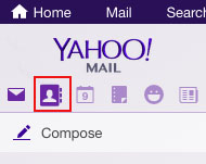 How to Export Contacts in Yahoo Mail Step 1