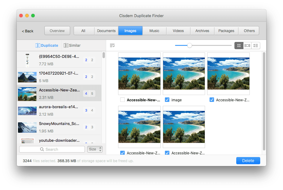 view and preview duplicate files