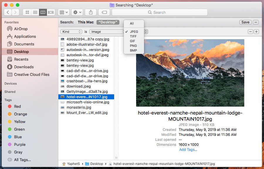 find similar photos on Mac by hand in Finder