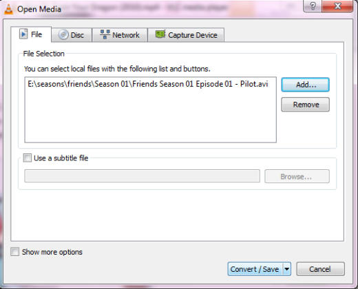 Convert FLAC to MP3 with VLC Step 2