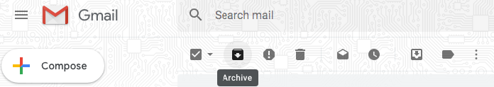 organize Gmail emails by archiving