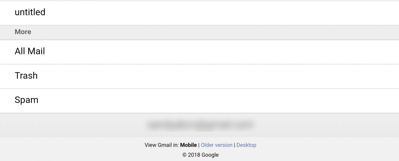 view Gmail in desktop version on mobile