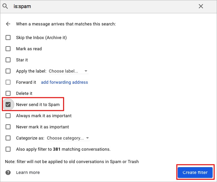 Gmail Spam Settings >> Gmail Spam Settings: 8 Important Measures to Cope with Spam