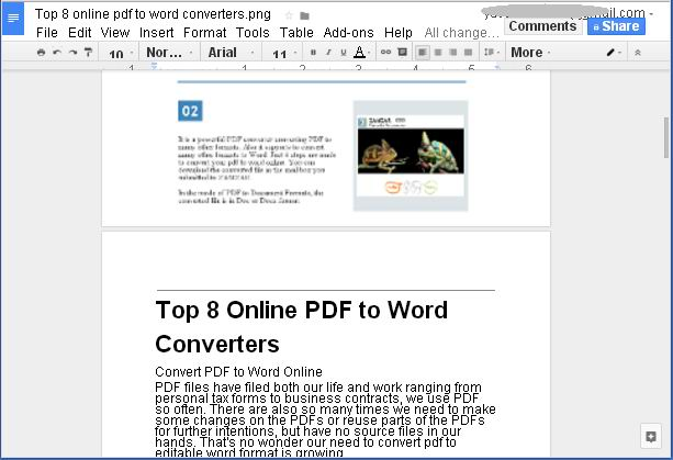 use google docs as free OCR tool