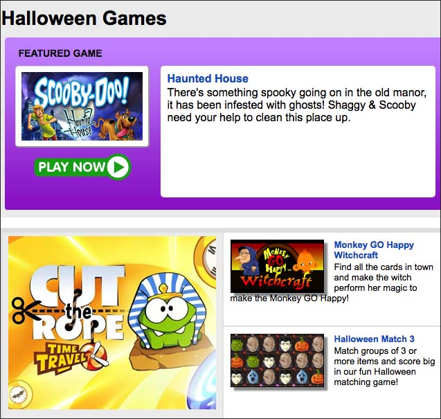 Best Halloween Google Online Games- Primary Games