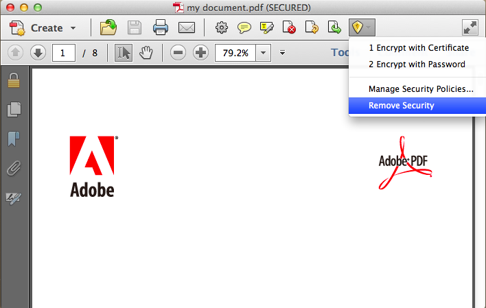print a secured pdf with adobe acrobat