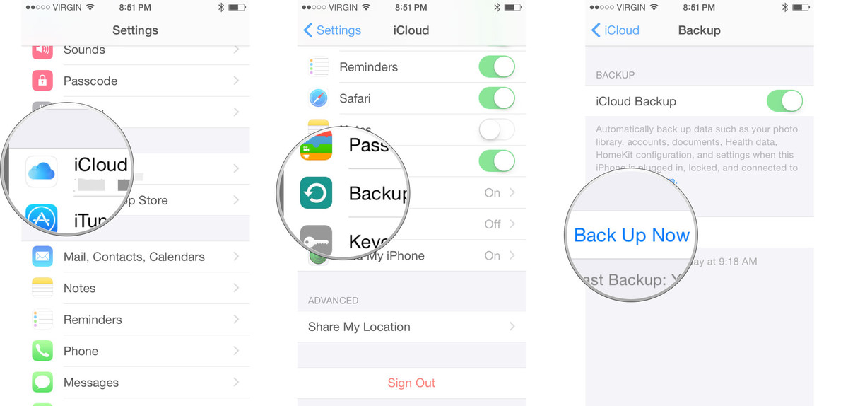 How To Backup Your Ios Devices To Icloud Or Itunes Ios 11