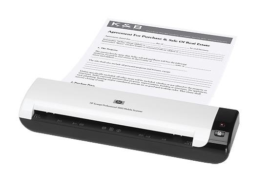HP Scanjet Professional 1000 Mobile Scanner, (L2722A)