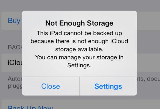 how to use icloud memory storage