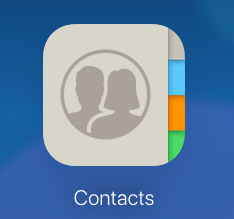 iCloud Contacts icon