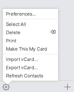 icloud.com select all contacts