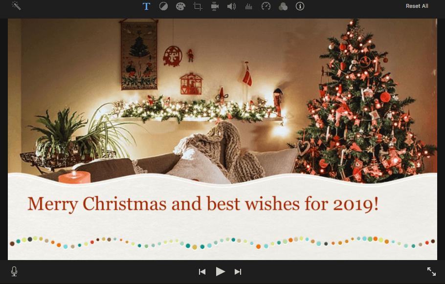 imovie christmas theme