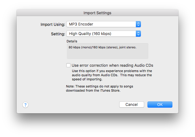 mp4 to mp3 on mac itunes setting