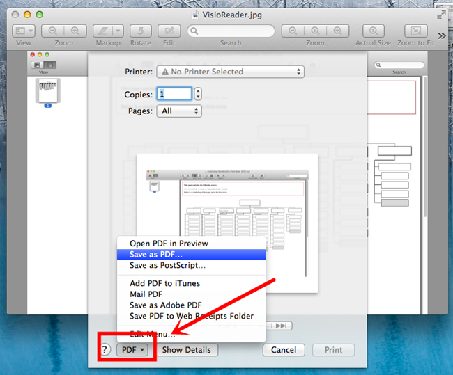 how to change a file to pdf on mac
