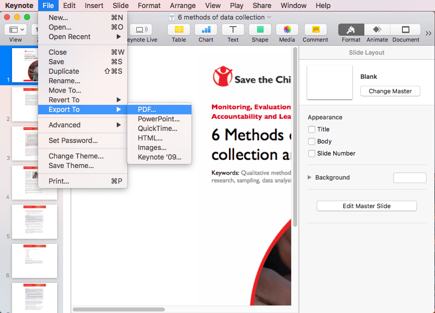 How to Convert Keynote to PDF on Mac, Windows and iOS